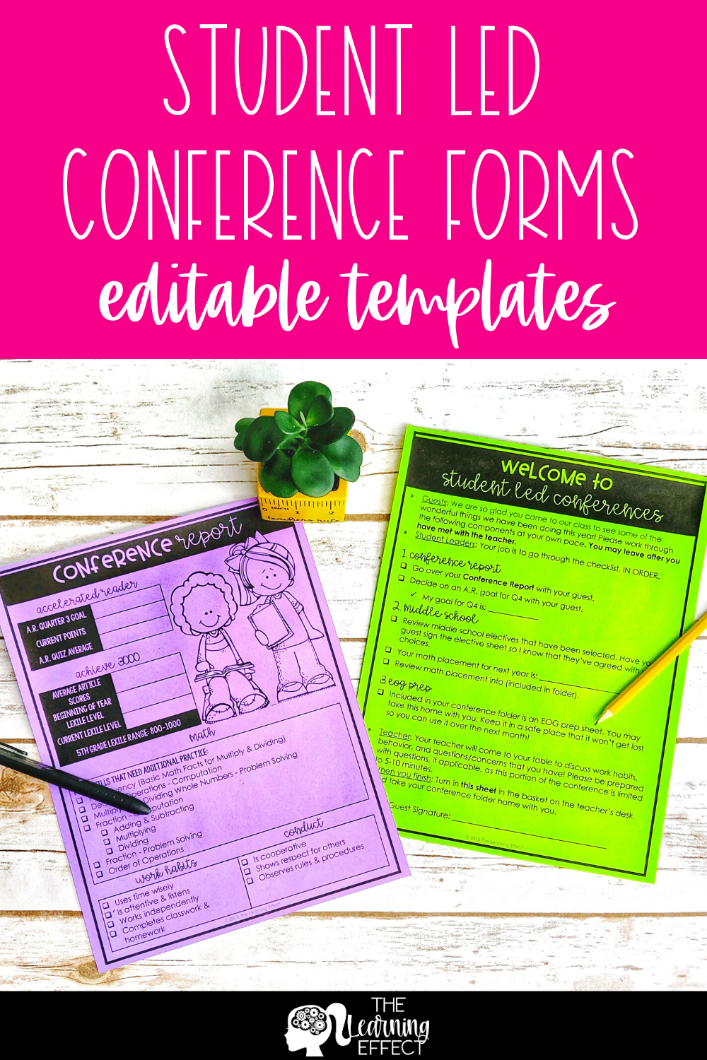 Student Led Conference Forms Digital Portfolio Bundle Printable And Virtual Student Led Conferences Student Led Student