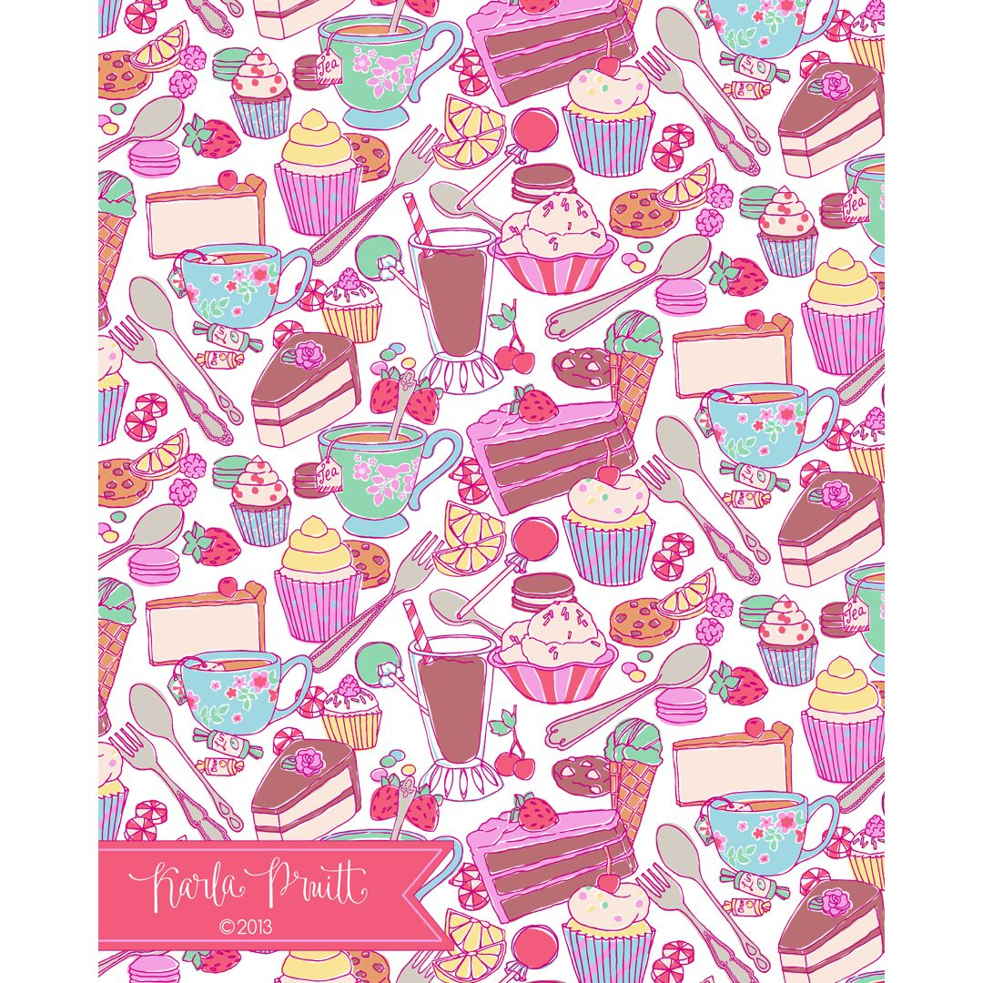 karlapruitt - Blog new work: sweets pattern