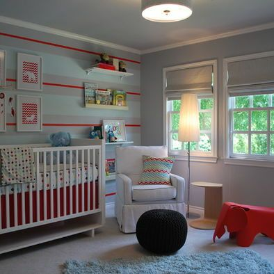 The Ric Rac Like Stripes On Wall Of This Nursery Are So Sweet