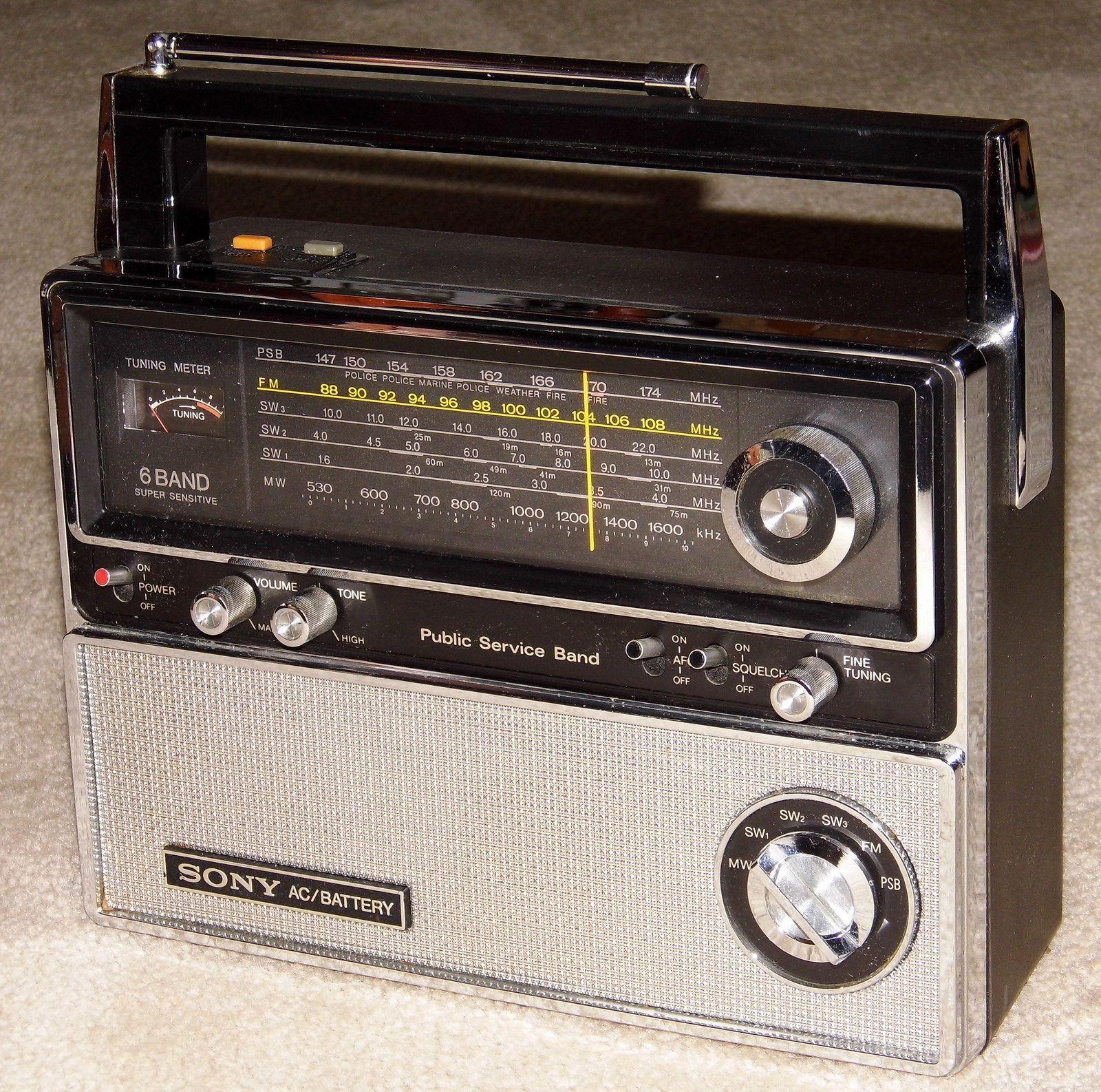 Vintage Sony Multi Band Radio Model Tfm 8000w 6 Bands Am Fm 3
