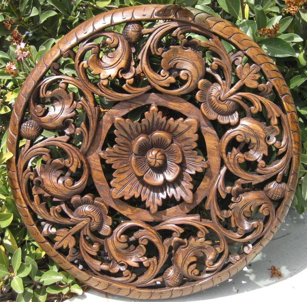 Quot floral teak panel oak finish rosettes pinterest