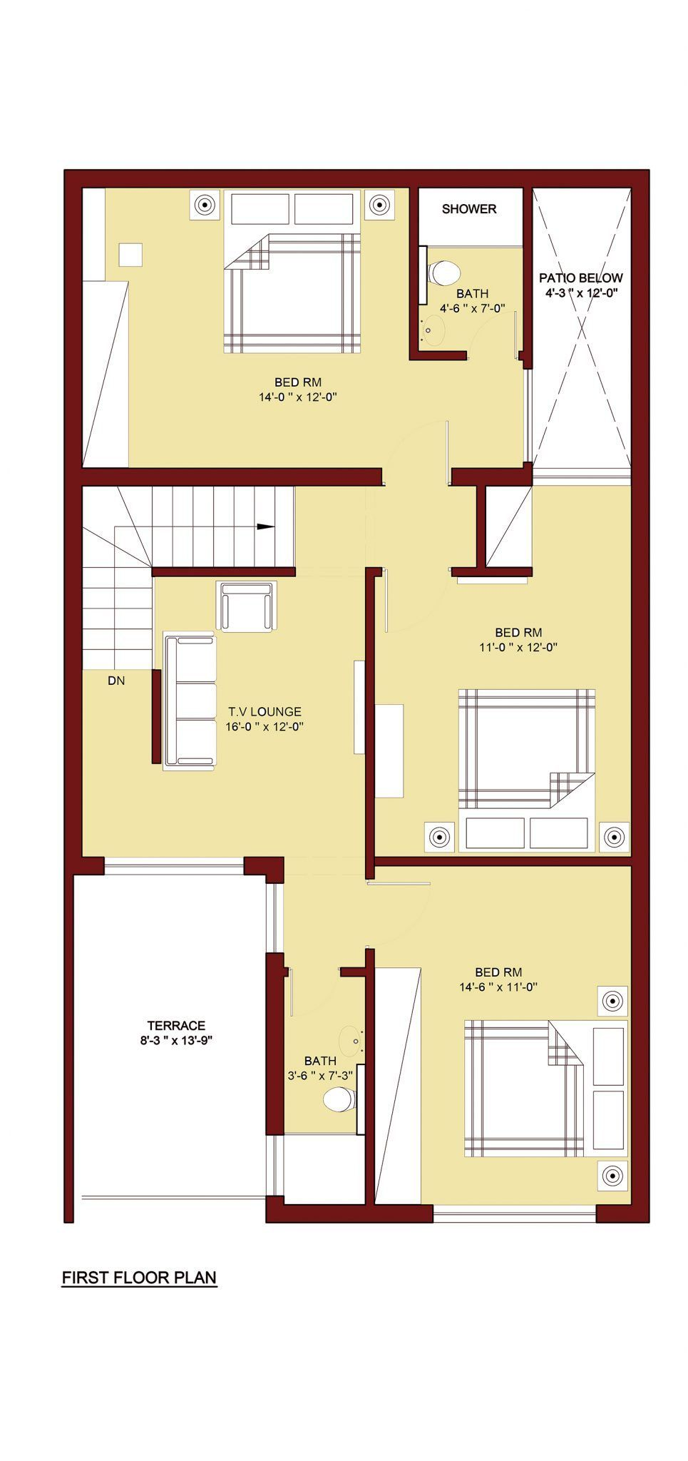 House floor plan house design pinterest bed room house and room