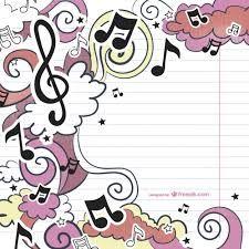 Resultado de imagen para dibujos de notas musicales para facebook