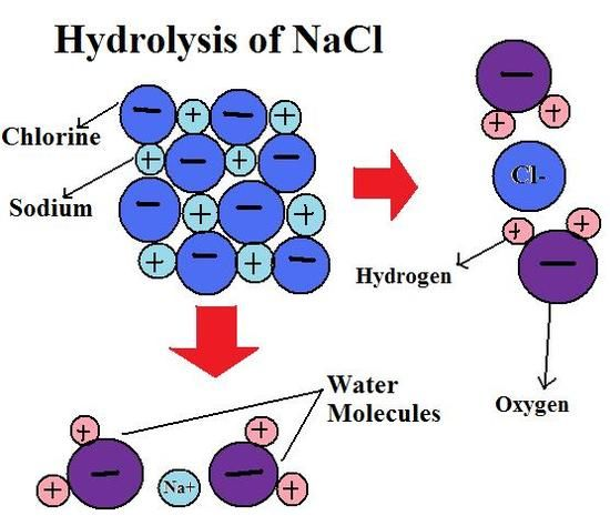 Hydrolysis Of Nacl Physical Chemistry Chemistry Hydrogen Water