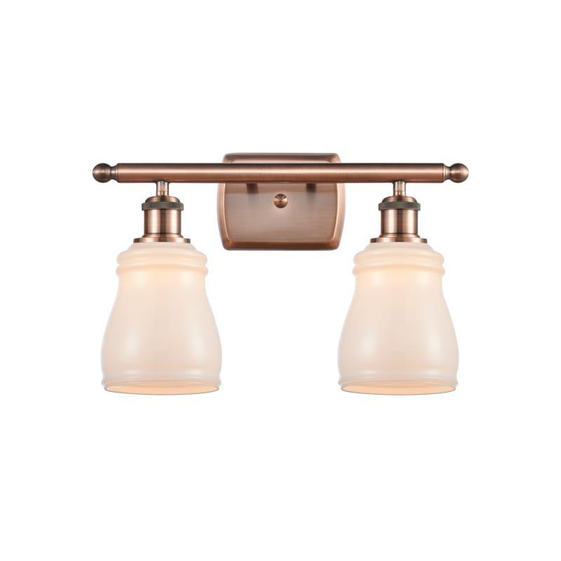 "Photo of Innovations lighting 516-2W Ellery Ellery 2 Light 16 ""wide bathroom basin lamp antique copper / white interior lighting bathroom lamps basin lamp"