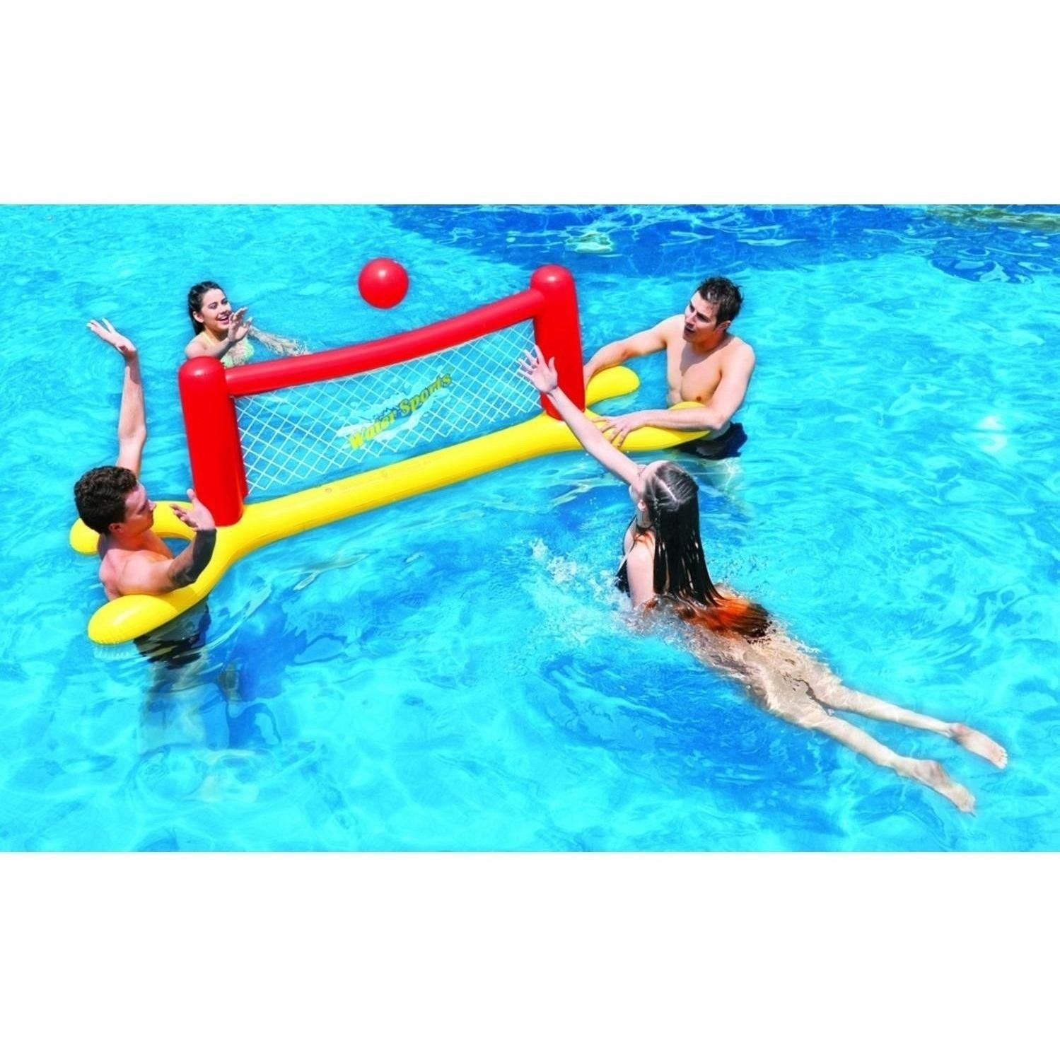 Jilong 94 Red Yellow And Blue Inflatable Swimming Pool Water Sports Volleyball Game Set 32148715 Swimming Pool Water Inflatable Swimming Pool Pool
