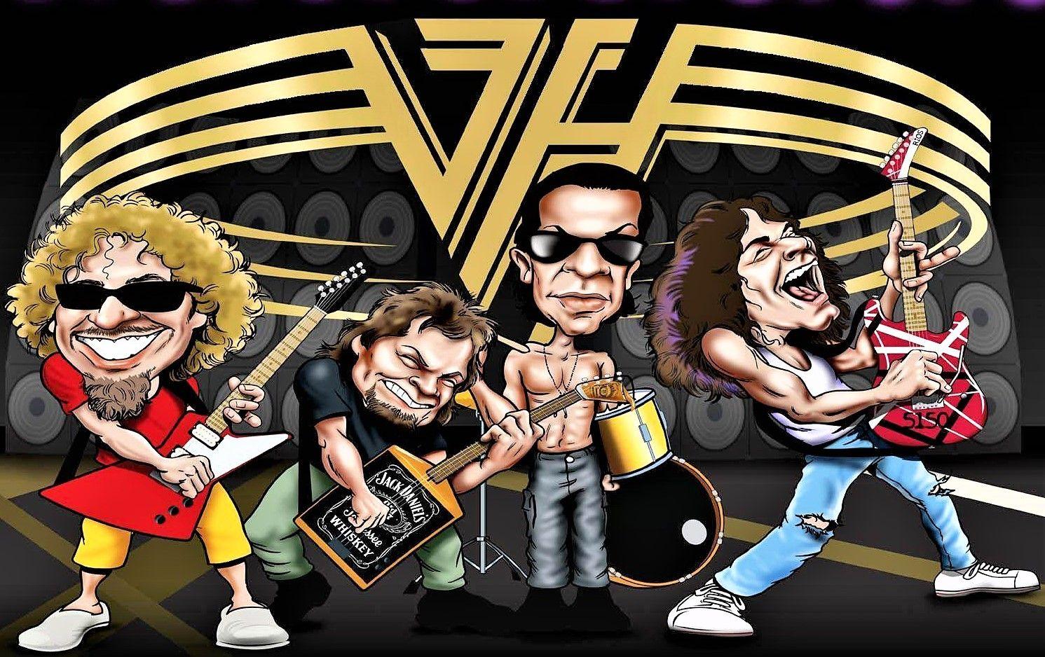Van Halen Van Halen Caricature Eddie Van Halen