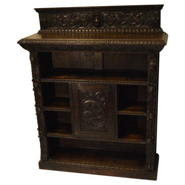 Check out this item at One Kings Lane! Carved Oak Bookcase