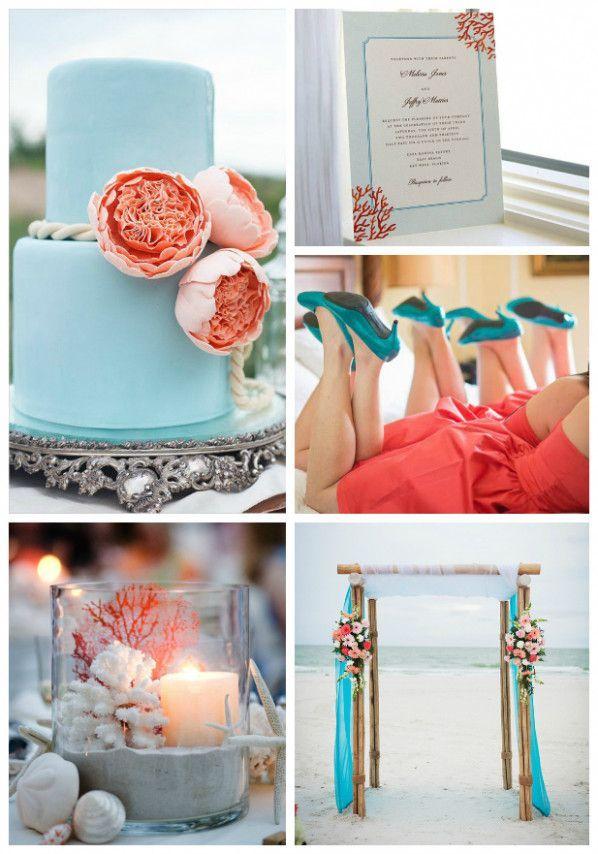 Turquoise Beach Wedding Coral en #turquoisecoralweddings koraal en turquoise worden …
