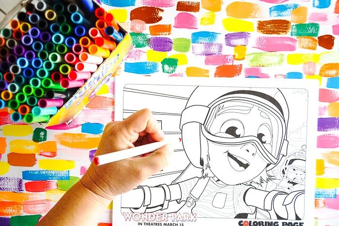 Wonder Park Movie Coloring Pages Crafts Ideas Holiday