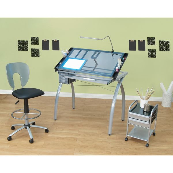 Studio Designs Futura Silver Blue Glass Drafting And Hobby Craft