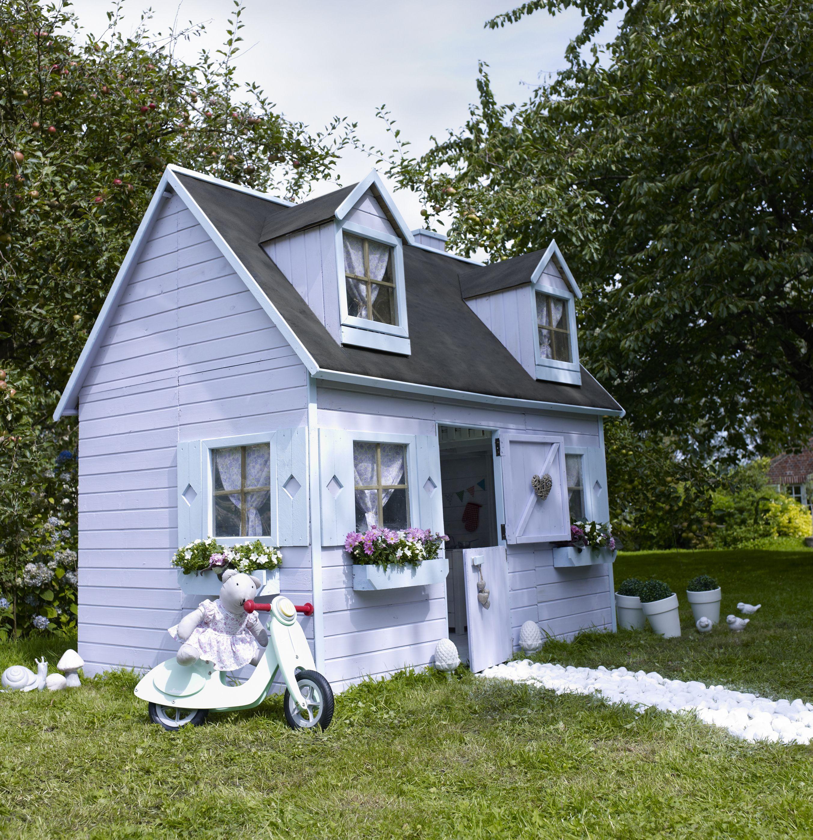 maisonnette rosalie castorama cabanes d 39 enfants d. Black Bedroom Furniture Sets. Home Design Ideas