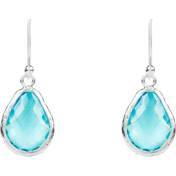 Latelita London Silver Petite Drop Earring Blue Topaz Hydro KaQVrj