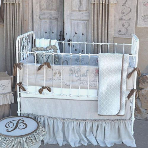 French Farmhouse Baby Bedding At Poshtots Best Site Ever Crib Bedding Girl Baby Bed Farmhouse Baby Bedding