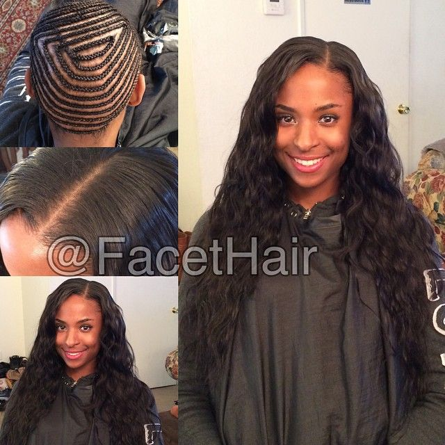 I Love Wavy Hair Full Weave With Little Leave Out Hair Is In Its
