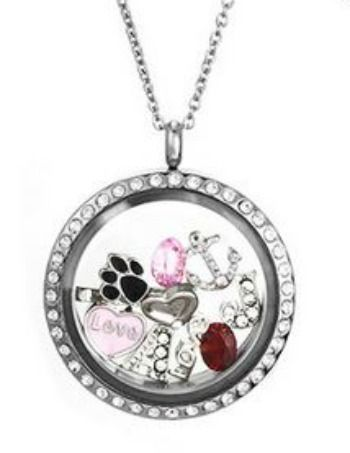 Floating charm lockets an upgraded look 31daysofgifts floating floating charm lockets are a personalized necklace style that has become very popular aloadofball Images