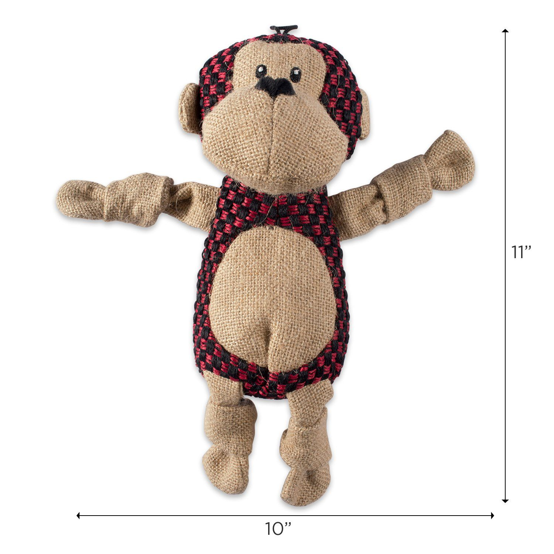 DII Bone Dry Burlap Body Jungle Friends Squeaking Pet Toy