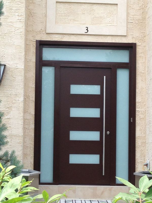 Image Result For Modern Front Door Frosted Glass Modern Exterior Doors Exterior Doors Timber Front Door