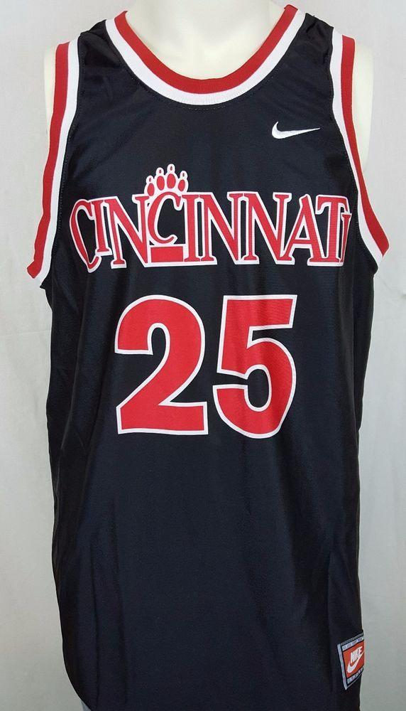 Cincinnati Bearcats Danny Fortson  25 NCAA Basketball Team Nike Jersey Size  L  Nike   92f2f173d