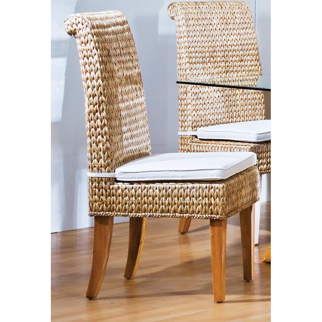 Hospitality Rattan Sea Breeze Indoor Seagrass Side Chair with ...