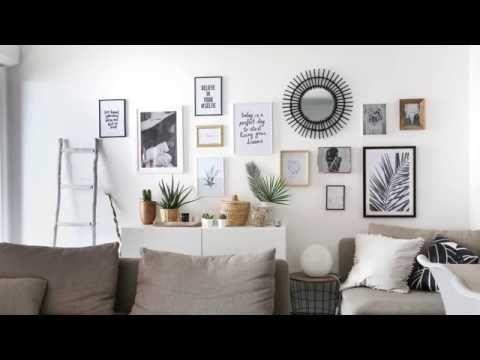 DIY  Un mur de cadres sans percer! - YouTube Projets à essayer