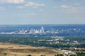 Denver--view of the city from Lookout Mountain Road--on trip down mountain from Buffalo Bill's Burial site and museum...slj