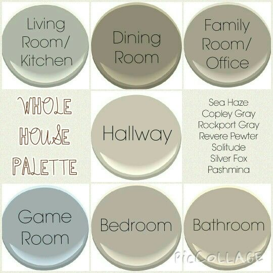 Whole House Palette All Benjamin Moore Colours 1 Sea