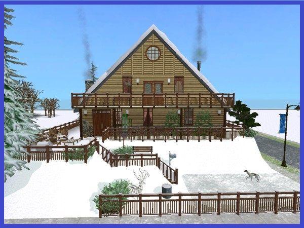 winter wonderland cottageullwera #sims2 #downloads | sims 2