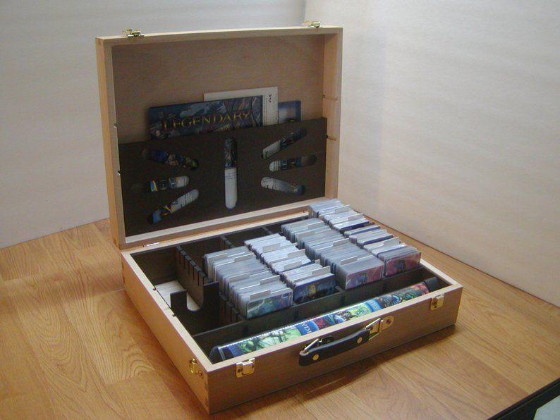 Legendary Deck Building Game Hobby Lobby Art Box Card Etsy Building A Deck Building Games Storage Spaces