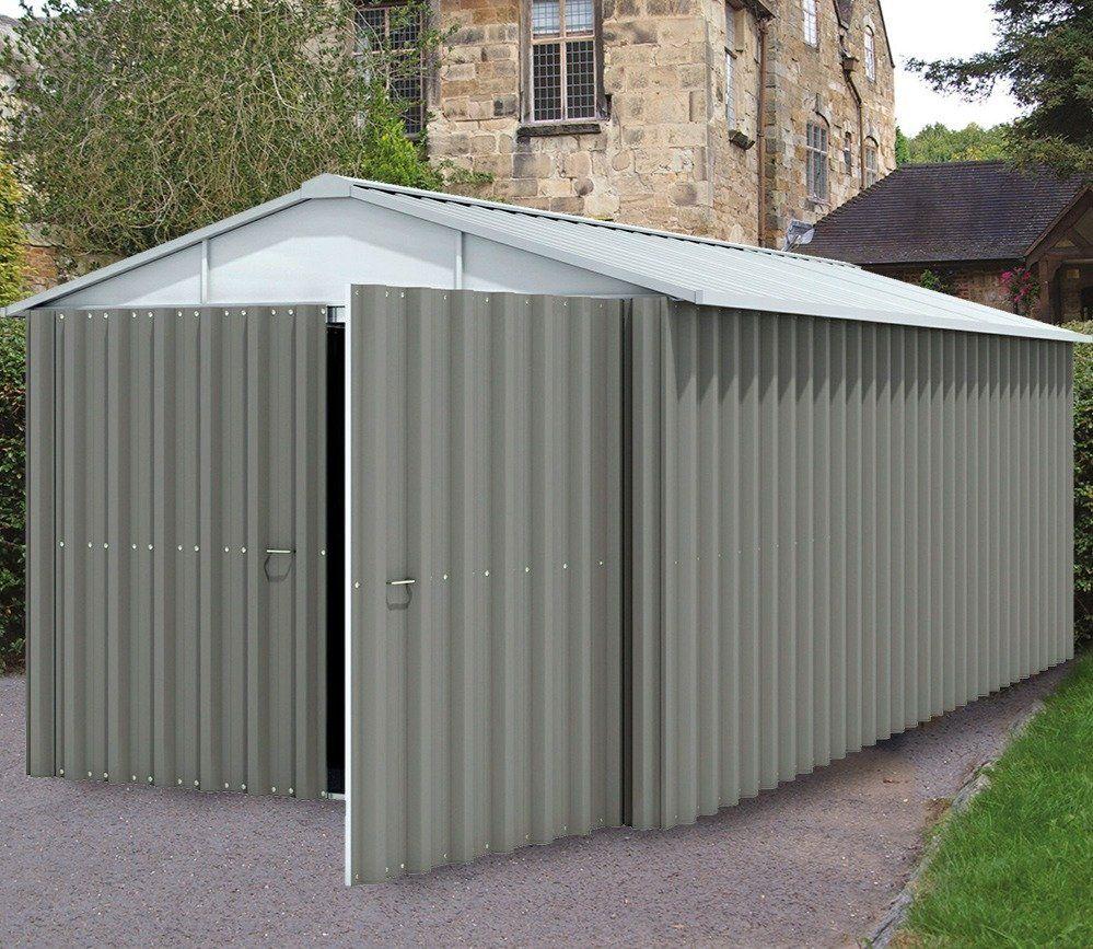Yardmaster 10 X 17 Ft Metal Garage Metal Garages Steel Sheds Garden Buildings
