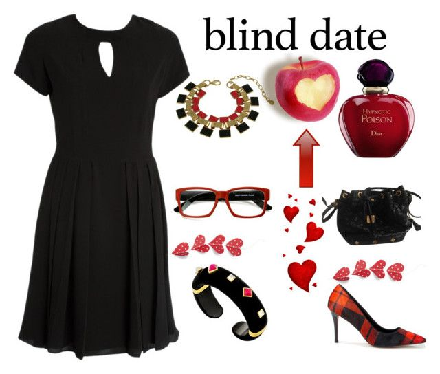 """""""Blind Date"""" by maryfromnewengland on Polyvore featuring Christian Dior, Margot McKinney, Sole Society, ZeroUV, MCM, LittleBlackDress, polyvoreeditorial, polyvorecontest and feelpretty"""