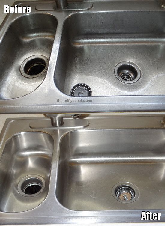 Awesome  Step Solution To Clean Your Stainless Steel Kitchen Sink Uses All Natural Ingre Nts From Your Kitchen Cupboard Cant Wait To Try It