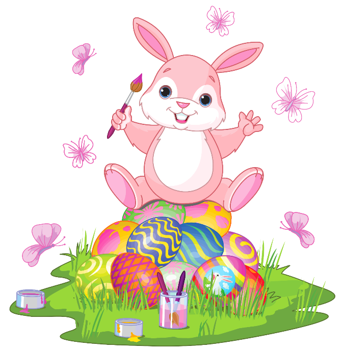 Image result for clipart easter bunny and eggs public domain
