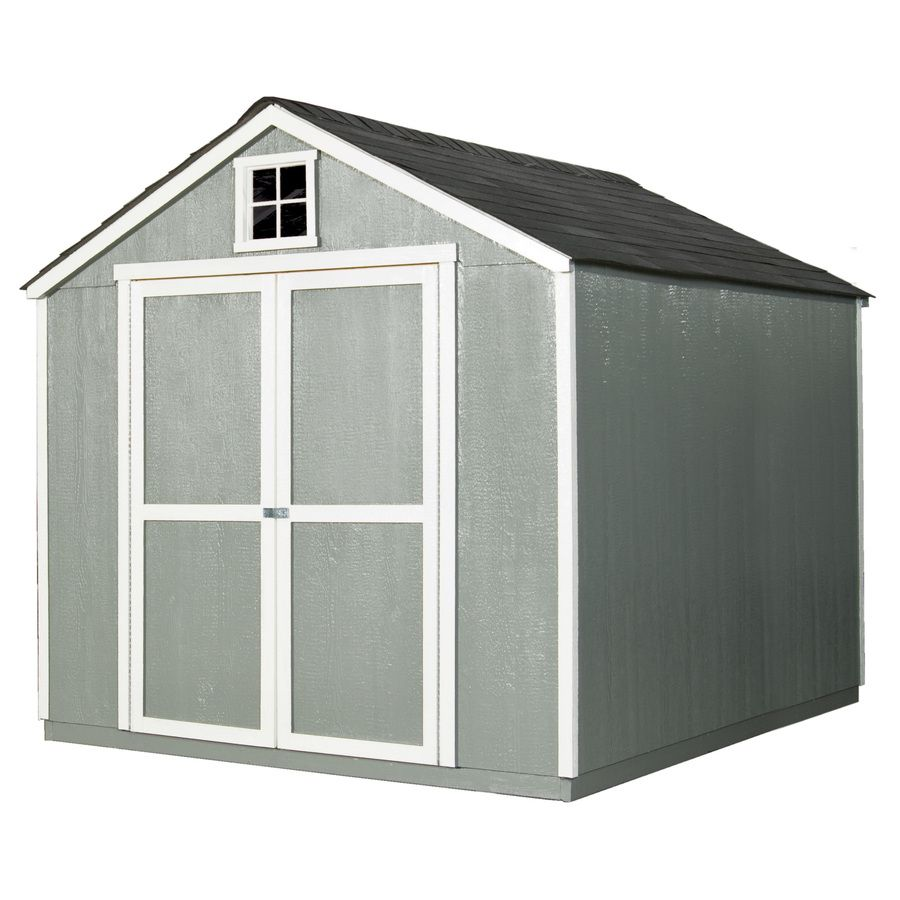 Heartland Common 8 Ft X 10 Ft Interior Dimensions 8 Ft X 9 72 Ft Belmont 8x10 Gable Engineered Storage In 2020 Storage Shed Wood Storage Sheds Garden Storage Shed
