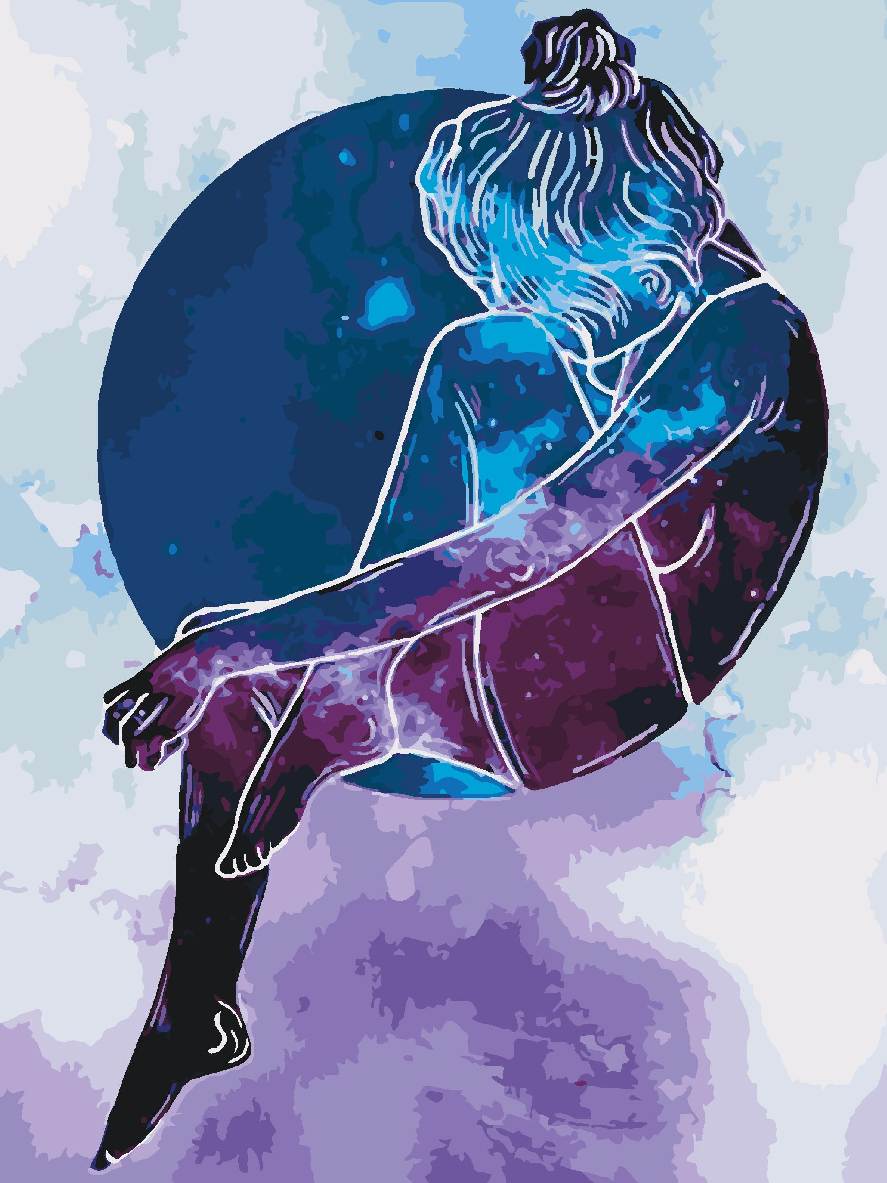 Картина-раскраска Созвездие девы Артикул - KHO2668, размер ...