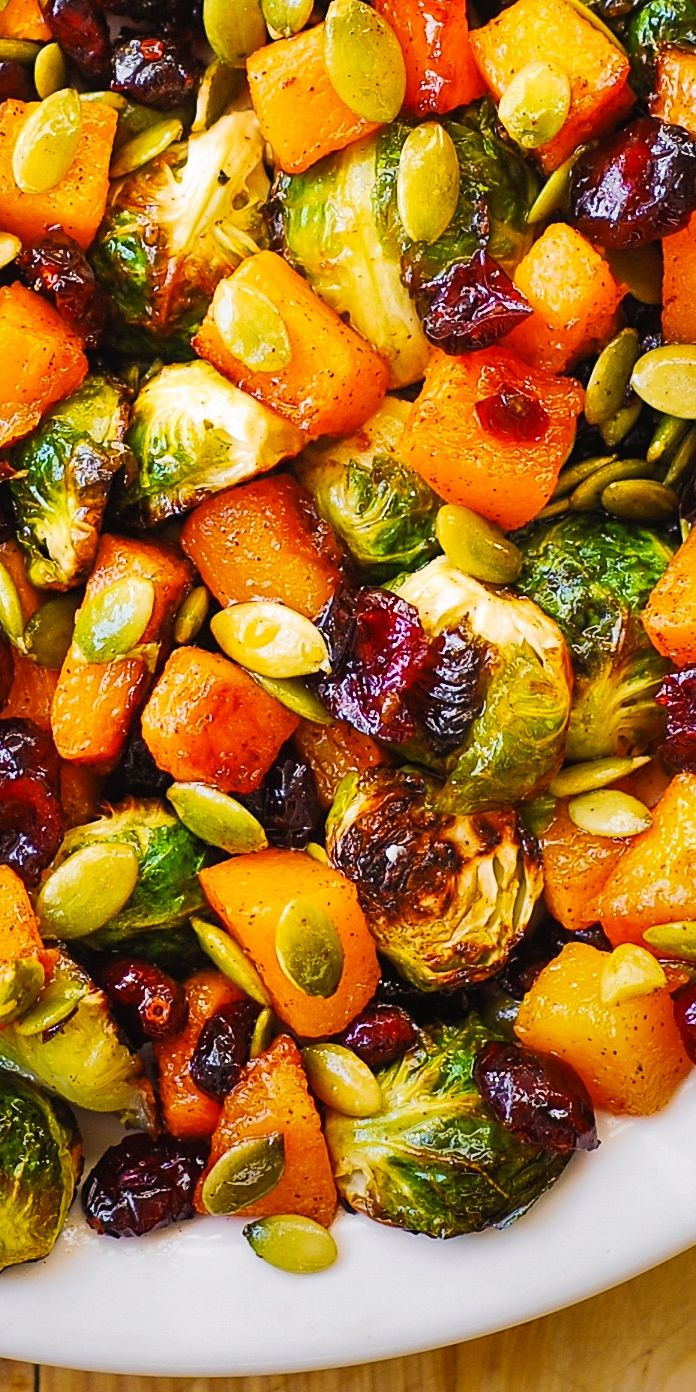 Thanksgiving: Roasted Brussels Sprouts, Butternut
