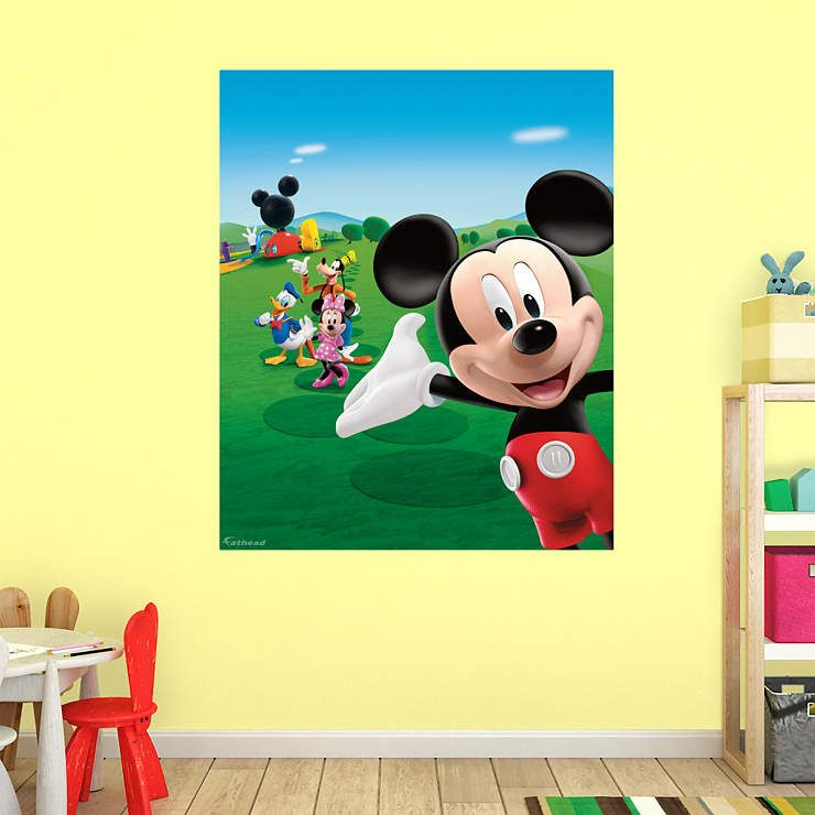 Mickey Mouse Clubhouse Mural | Mickey mouse clubhouse, Clubhouses ...