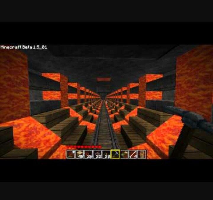 cool mine cart tunnel ideen