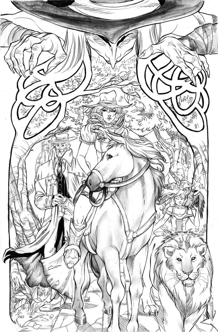 This Is For The Legend Of Oz 7 Its Mombi Drawn And Colored By Me This Cover Was An Exercise In Texture Also Coloring Pages Coloring Books Colouring Pages [ 1101 x 725 Pixel ]