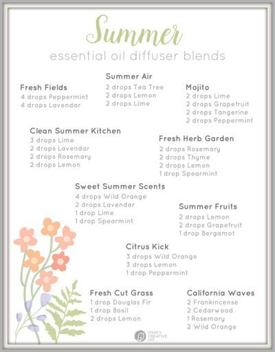 Diffuser Blends for Summer using Essential Oils | chemical free home | todayscreativelife.com