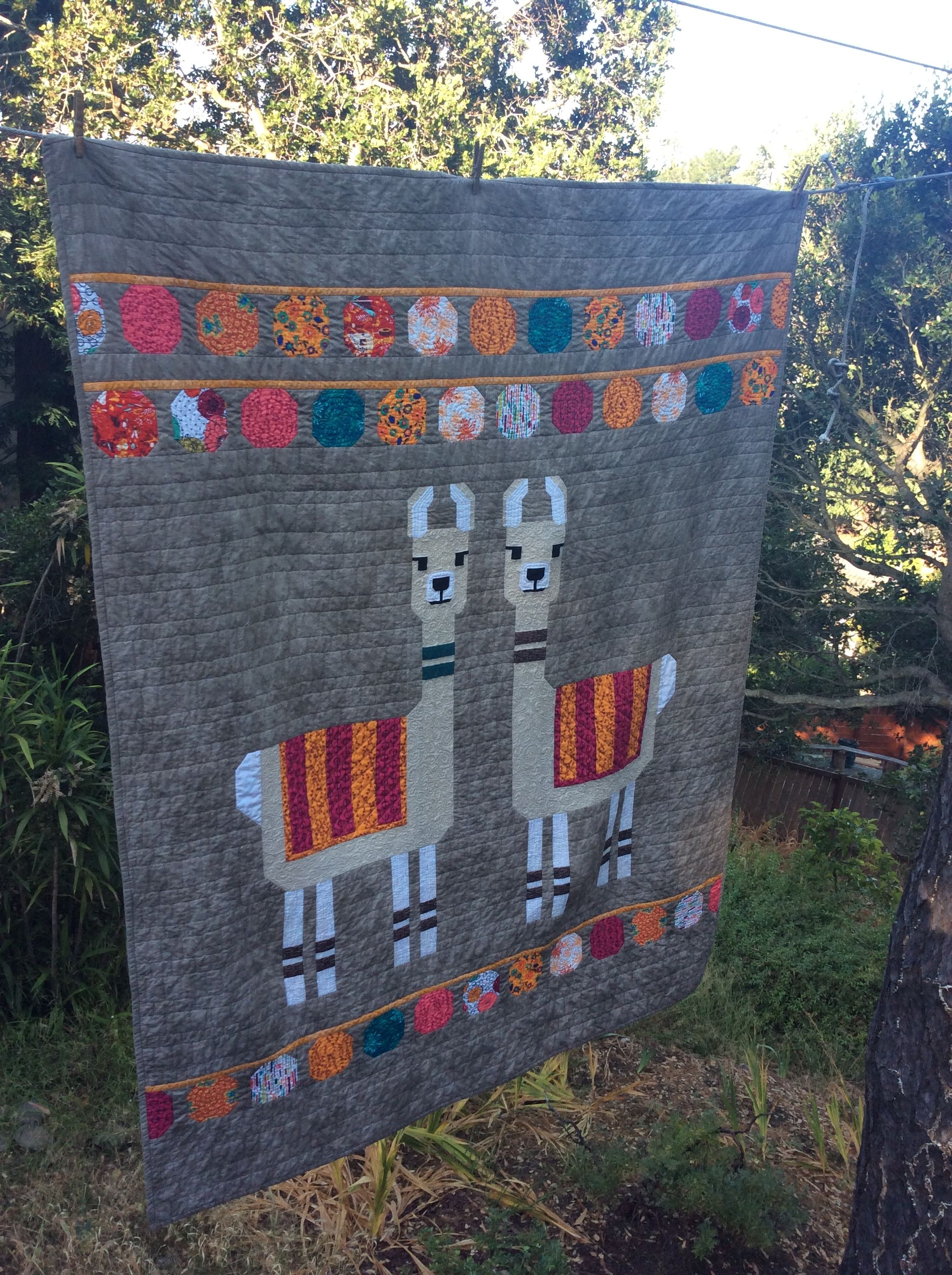 llama quilt using elizabeth hartman pattern quilts