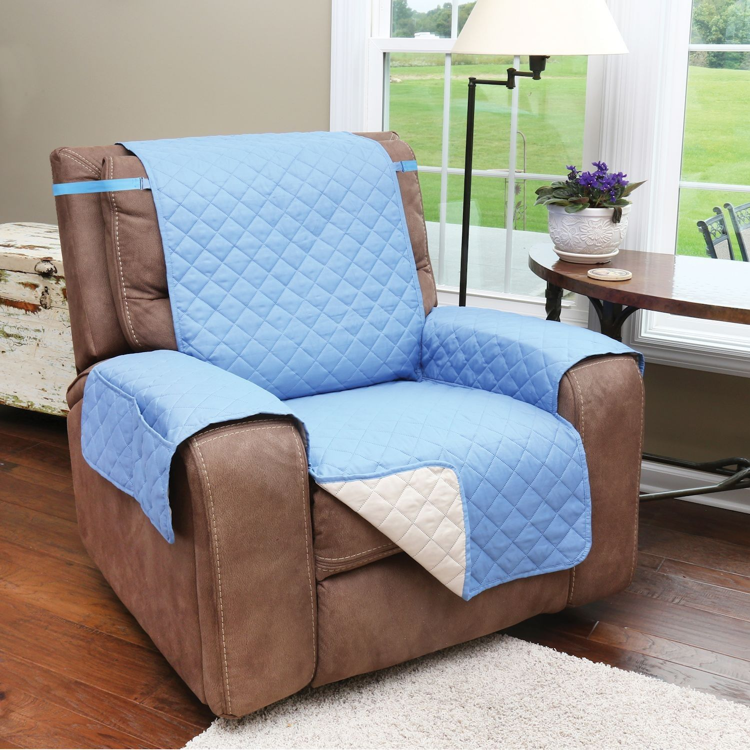 Support Plus Reversible Quilted Microfiber Recliner Chair