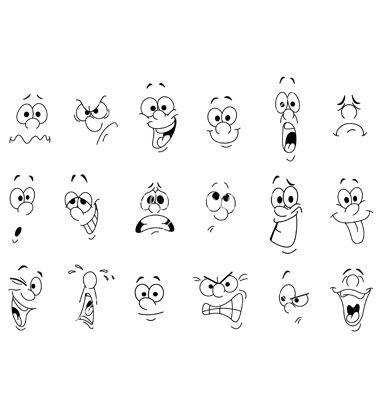 Free drawing facial expressions