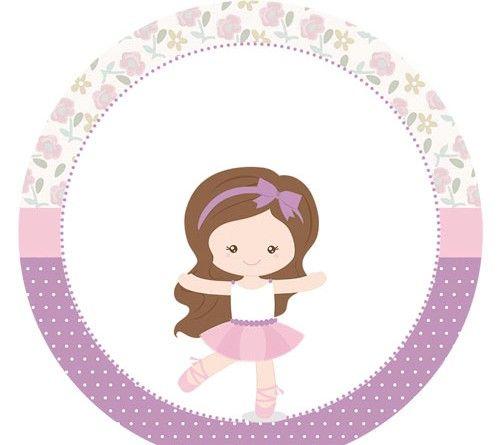 Suficiente Tag ou toopers para docinhos ou cupcakes Bailarina Lilas  GG49