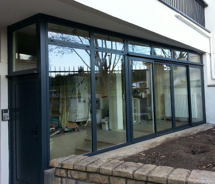 Rénovation fenêtres  pose de menuiseries aluminium - février 2015