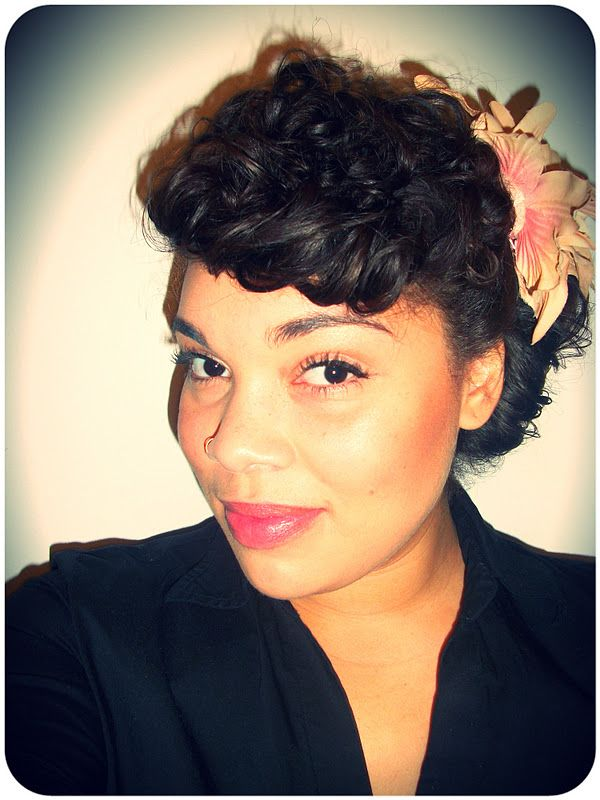 Surprising 1000 Images About Curly Hair Style On Pinterest Retro Bangs Short Hairstyles For Black Women Fulllsitofus