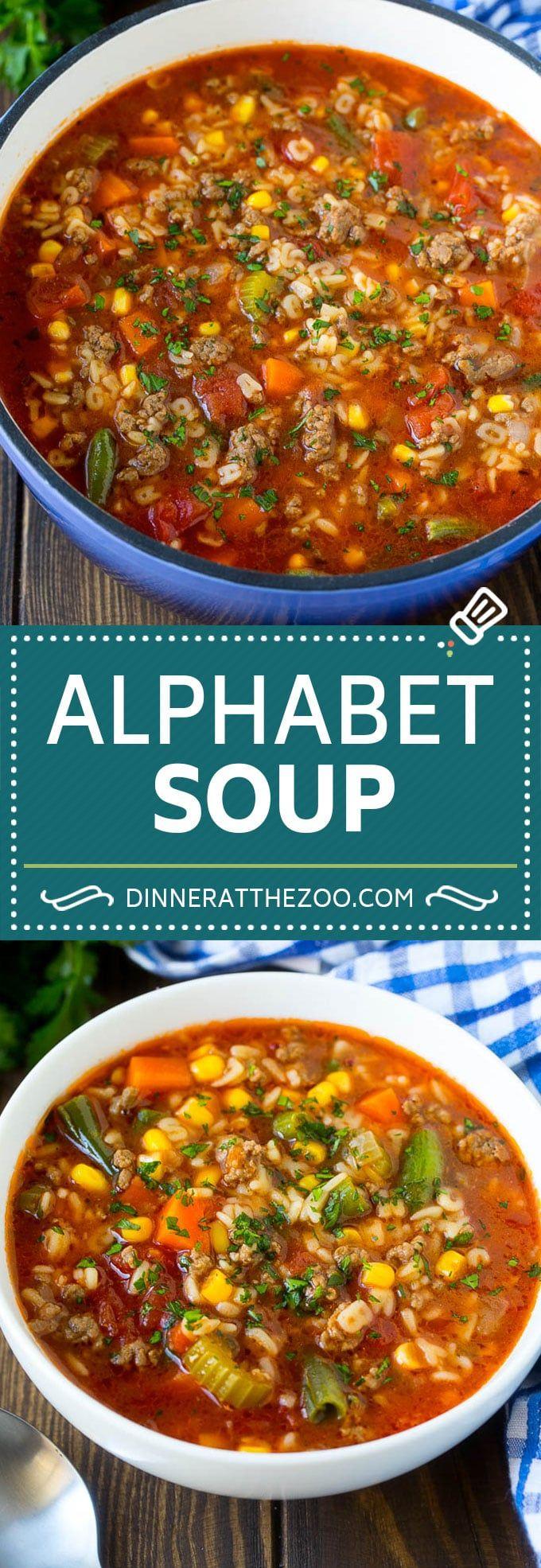 Alphabet Soup Recipe | Hamburger Soup | Beef and Vegetable Soup