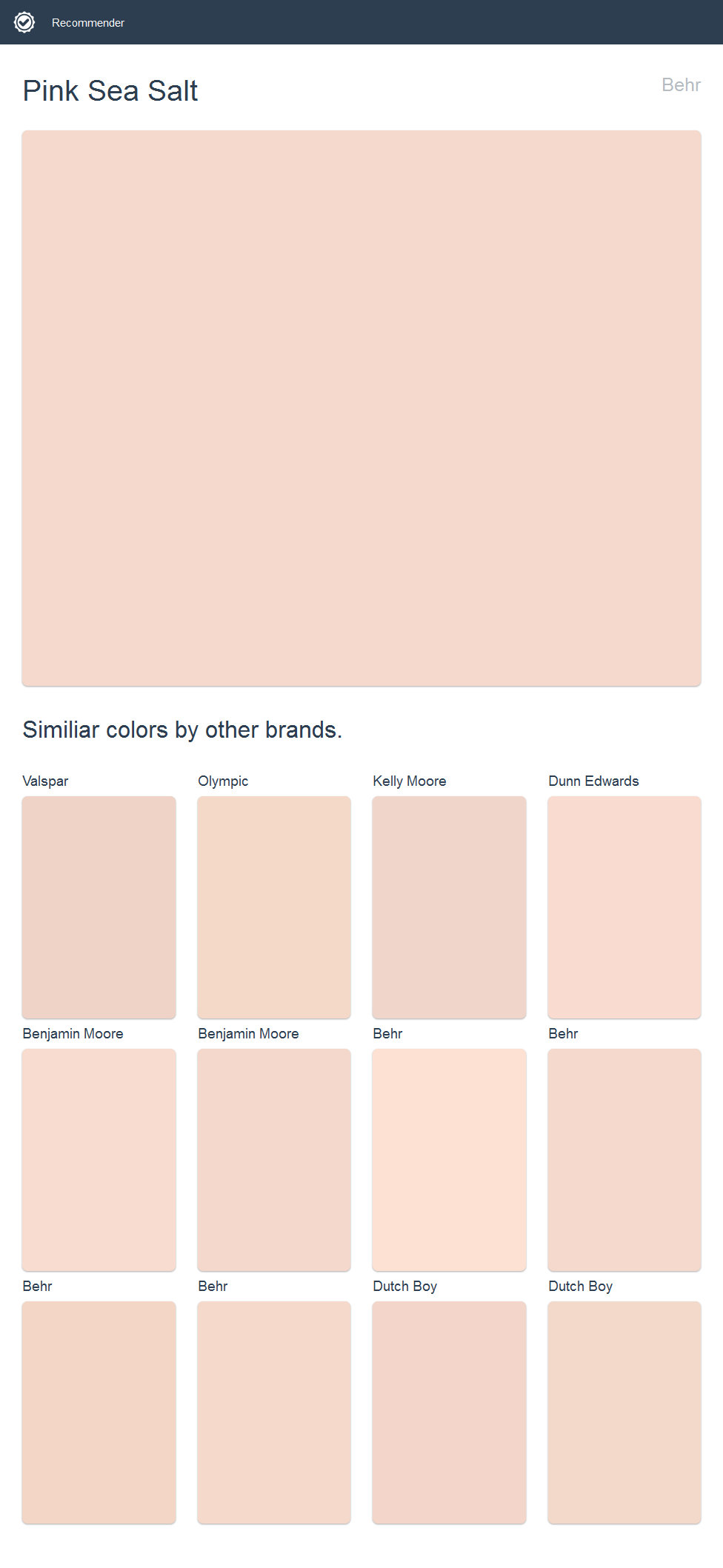 Pink Sea Salt Behr Click The Image To See Similiar Colors By Other Brands
