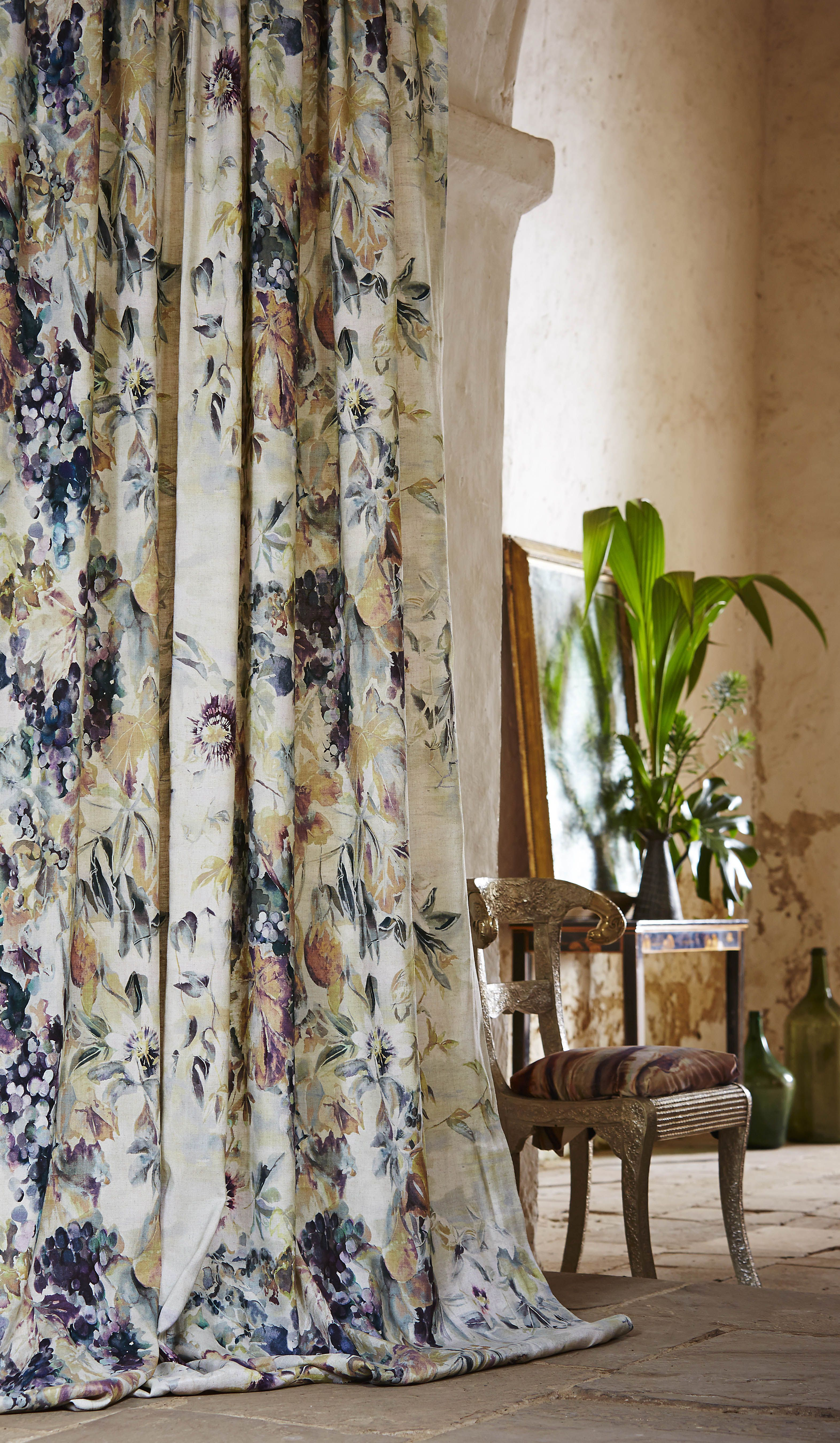 Gorgeous Floral Curtains In Jewel Tones Curtain Decor