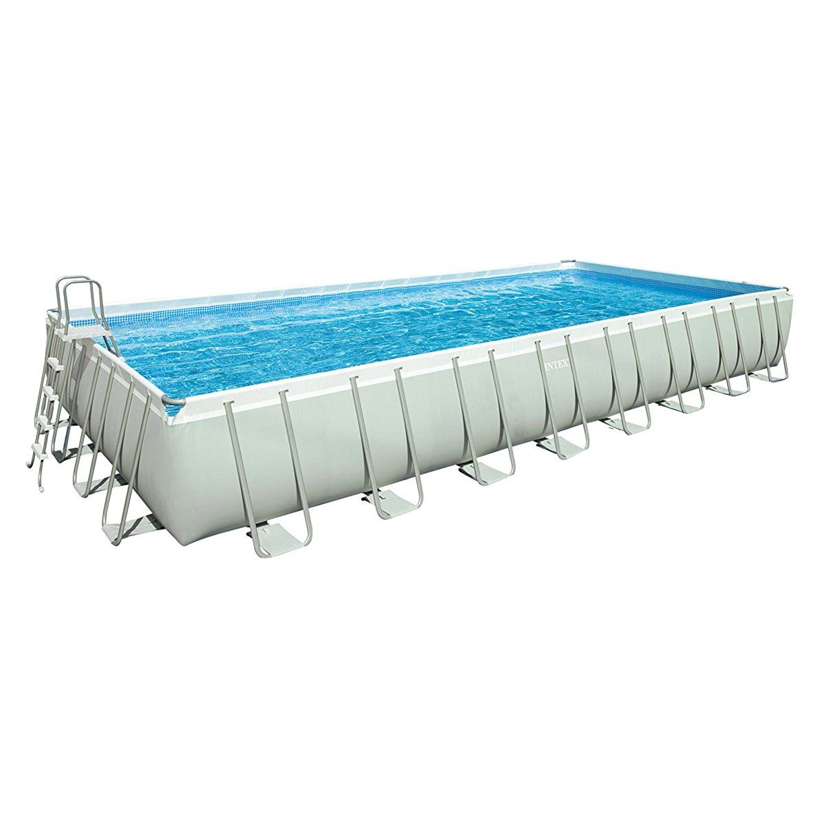 Intex 32ft X 16ft X 52in Ultra Frame Rectangular Pool Set with Sand ...